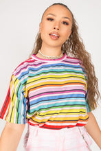 Load image into Gallery viewer, Rainbow Stripe Tee