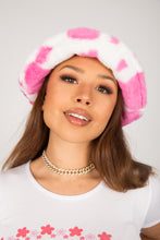 Load image into Gallery viewer, Deep Pink Cow Fluffy Bucket Hat
