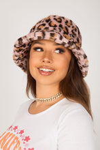 Load image into Gallery viewer, Pale Pink Leopard Fluffy Bucket Hat