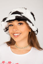 Load image into Gallery viewer, Retro Cow Fluffy Bucket Hat