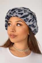 Load image into Gallery viewer, Blue Leopard Fluffy Bucket Hat