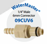 "09CUV6 Watermaster 1/4"" (6MM) Male Connector"