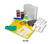SK-CAB Battery Spill Kit in Cabinet