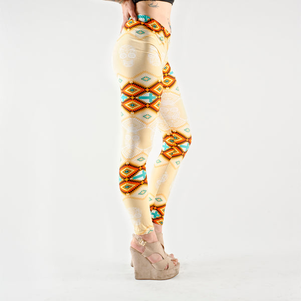 Aztec Leggings Gelb