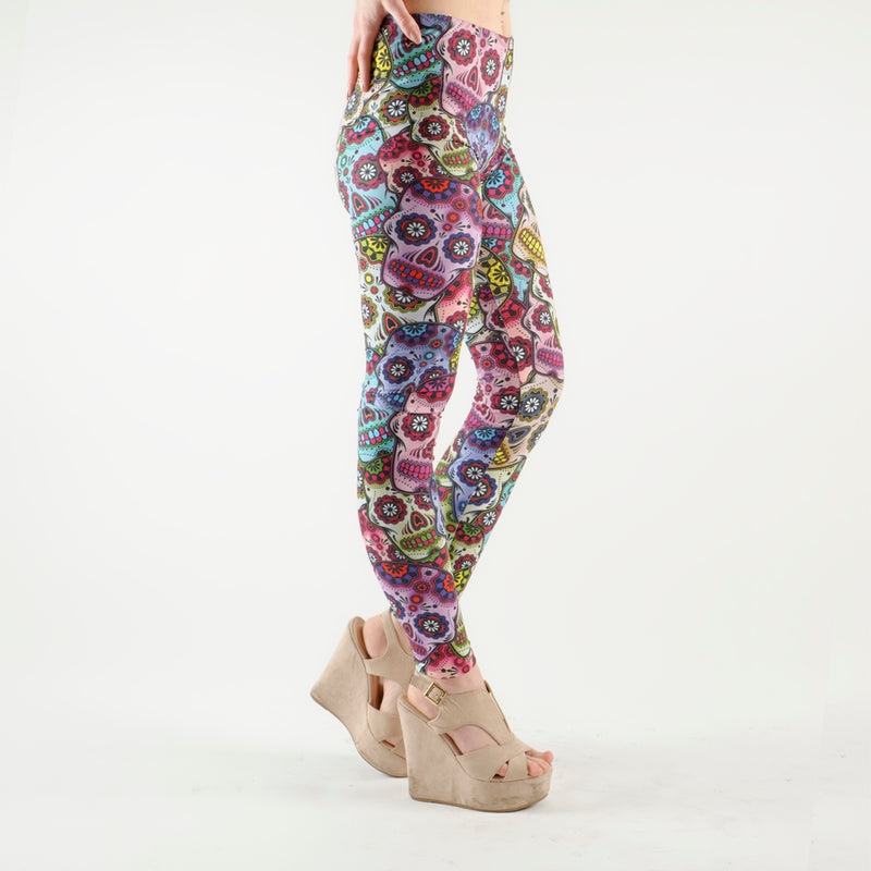 Sugar Skull Leggings Mixed