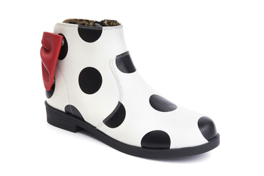 Ankle Boots Low Heels Allison Main Bows And Dots - Lola Ramona - Bombus