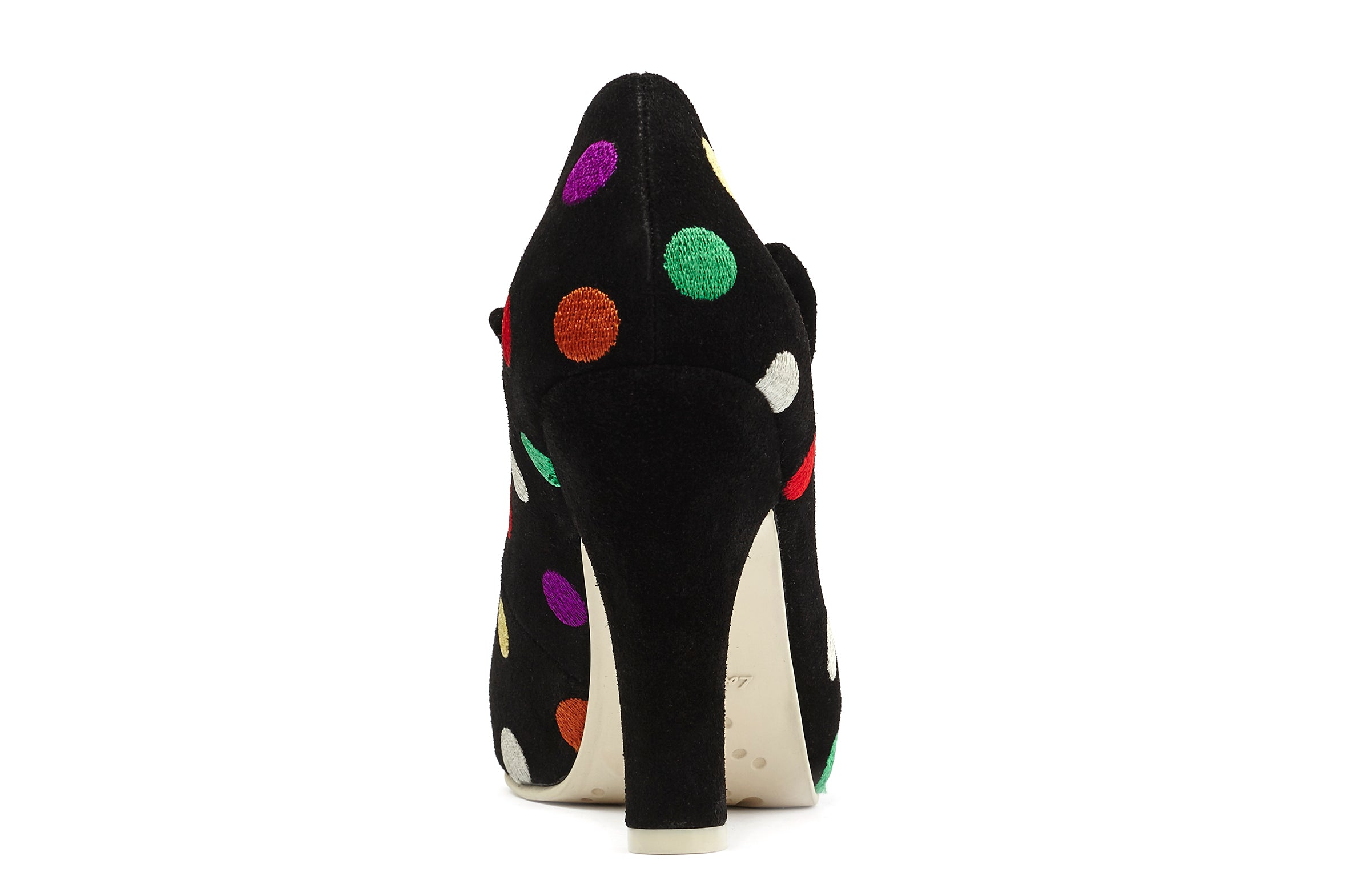 Pumps Comfy High Heels Angie Suede Dots Multi - Lola Ramona - Bombus