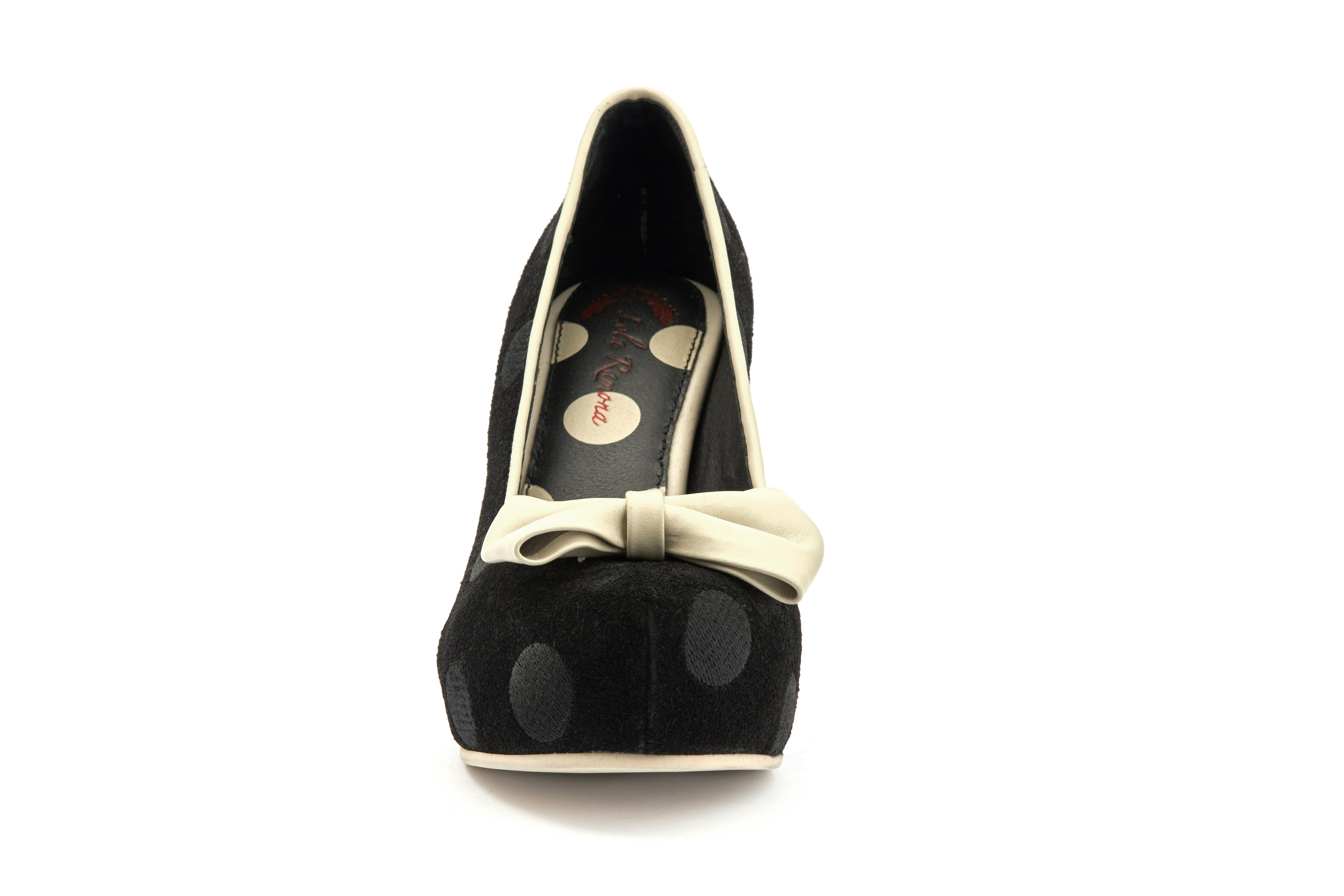 Pumps Platform Block High Heels Angie P Dots Black - Lola Ramona - Bombus