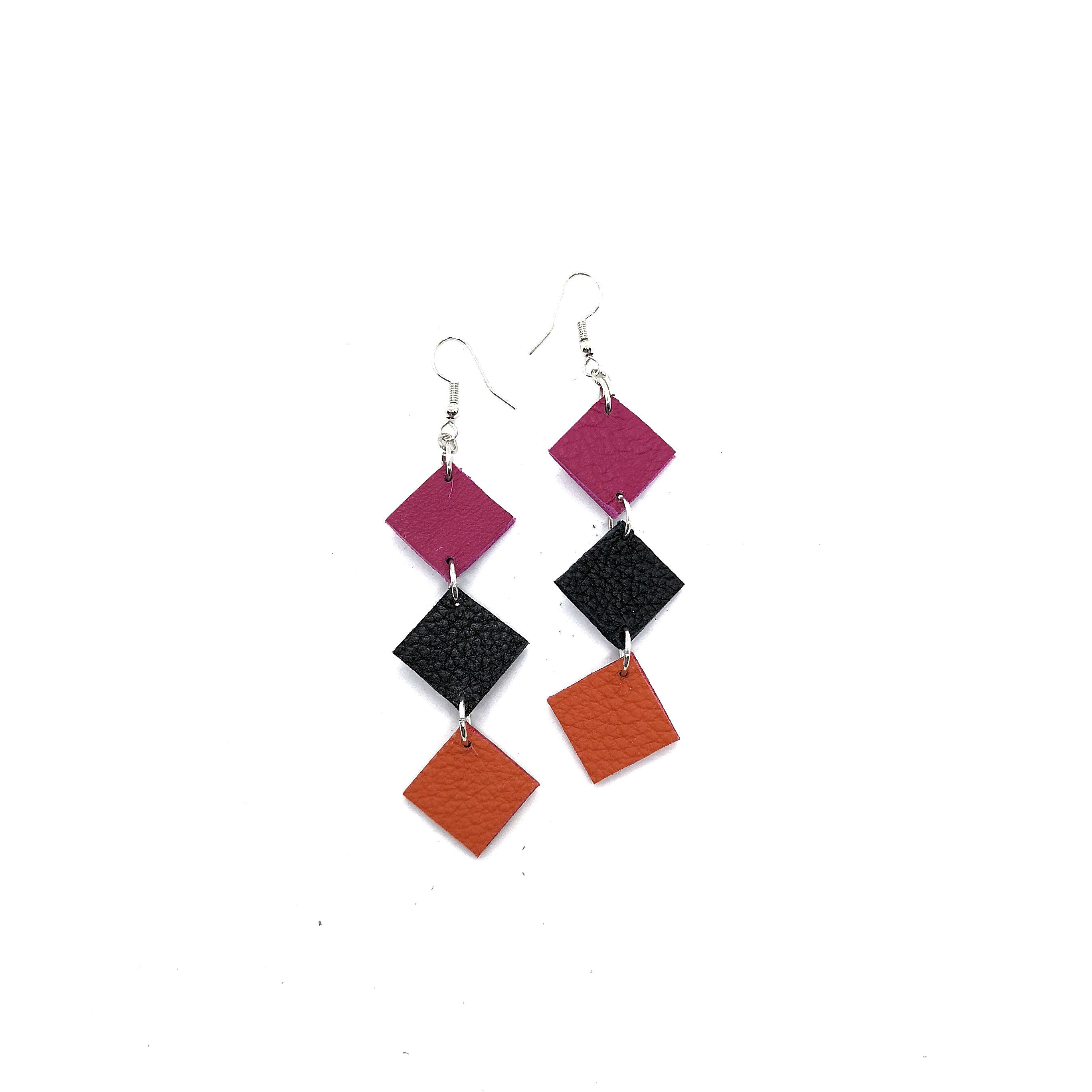 Earrings Blocked Orange - RokrokInc. - Bombus