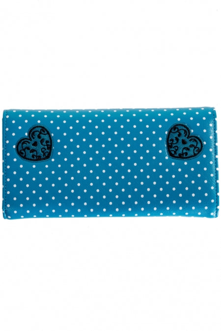 Wallet Now Or Never Teal Blue - Boutique Freda - Bombus