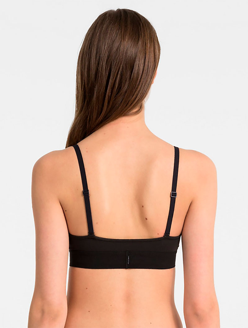 CK UNLINED TRIANGLE IN BLACK