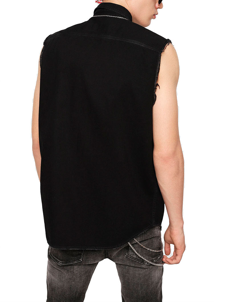 D-KIRU TOP VEST IN BLACK