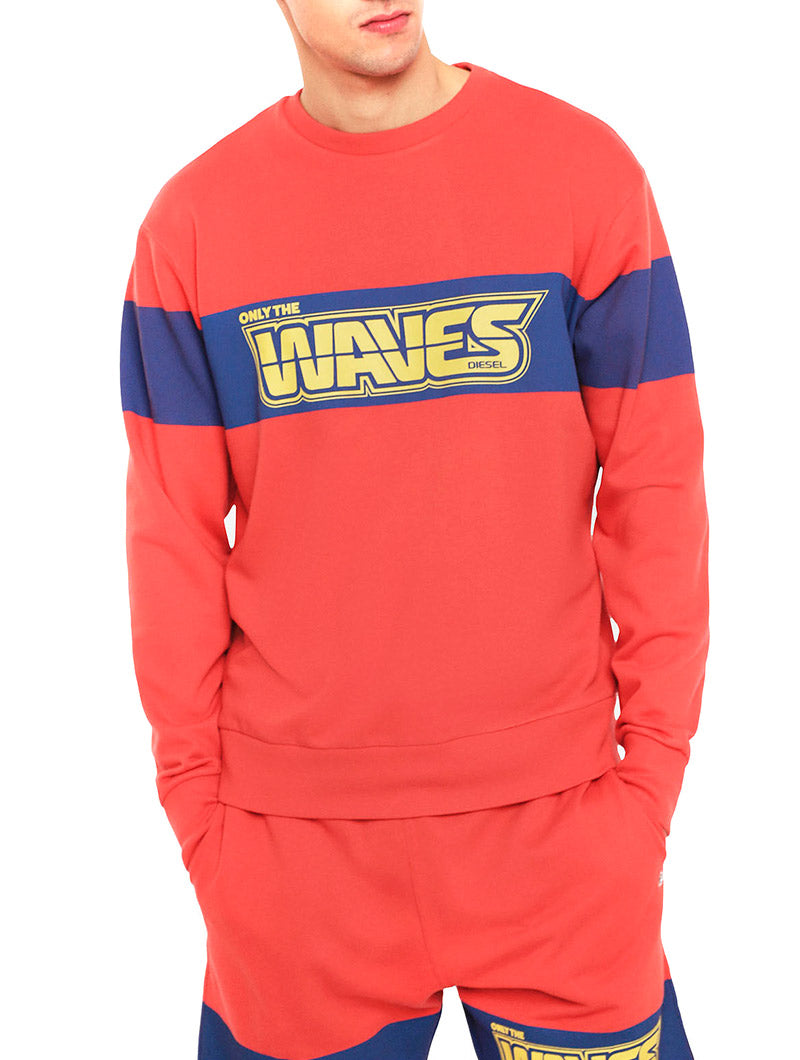 BMOWT-JUSTY-B SWEATSHIRT IN RED