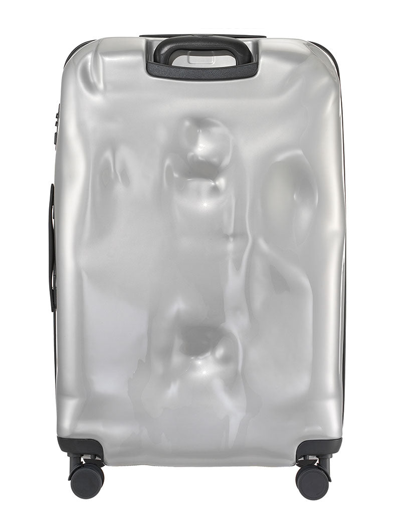 ACCESSORIES | LARGE SILVER METAL CRASH BAGGAGE  | TROLLEY | CRASH BAGGAGE