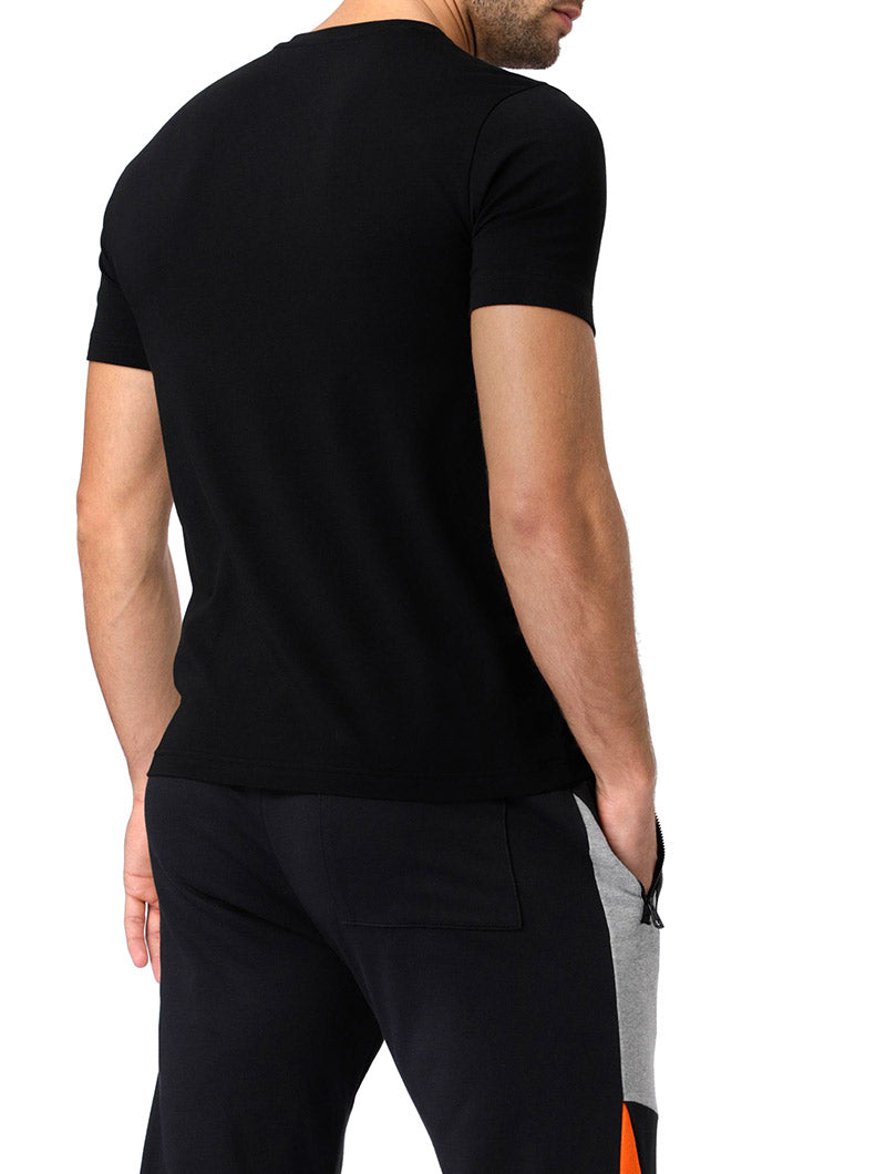 EA7 PRINTED T-SHIRT IN BLACK