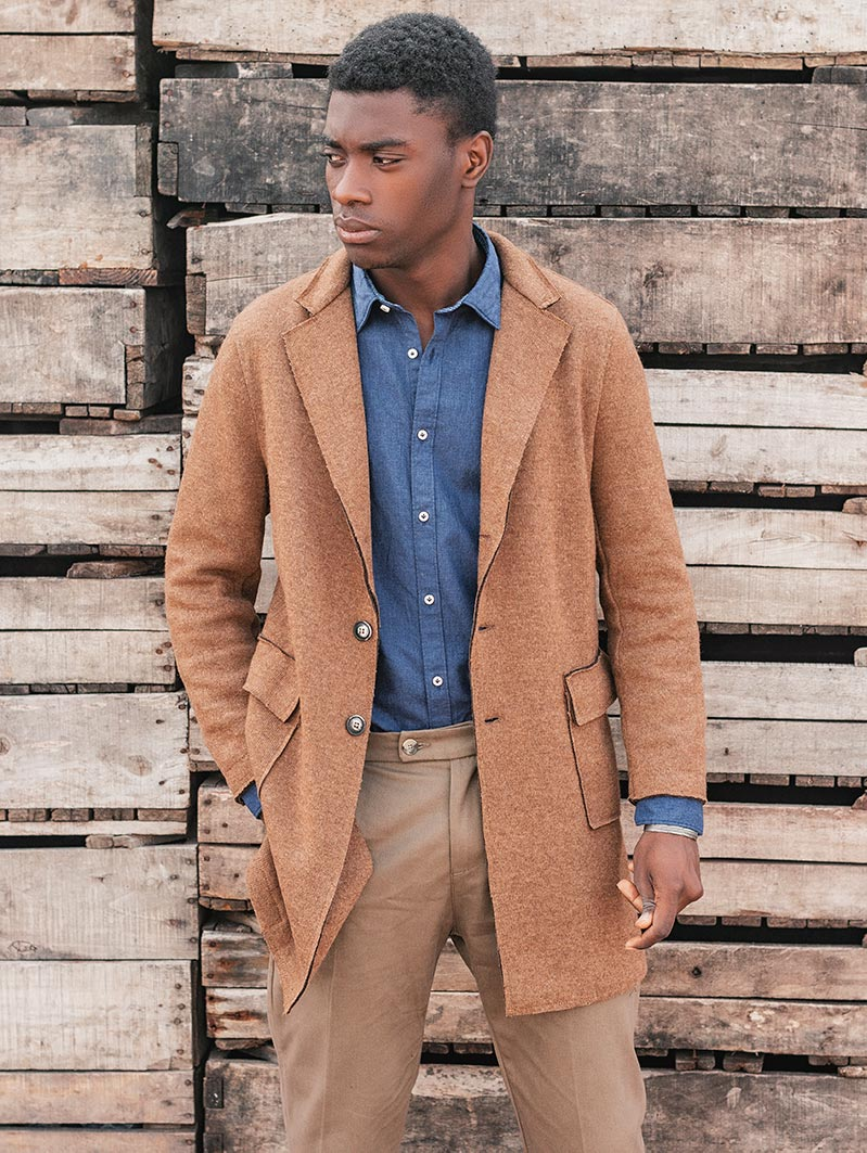 ZANE COAT IN CAMEL