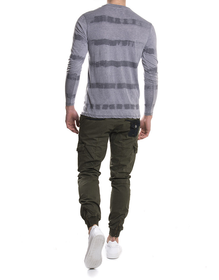 LONG SLEEVE FANTASY STRIPE | T-SHIRT NOHOW STYLE | TOTAL LOOK NOHOW