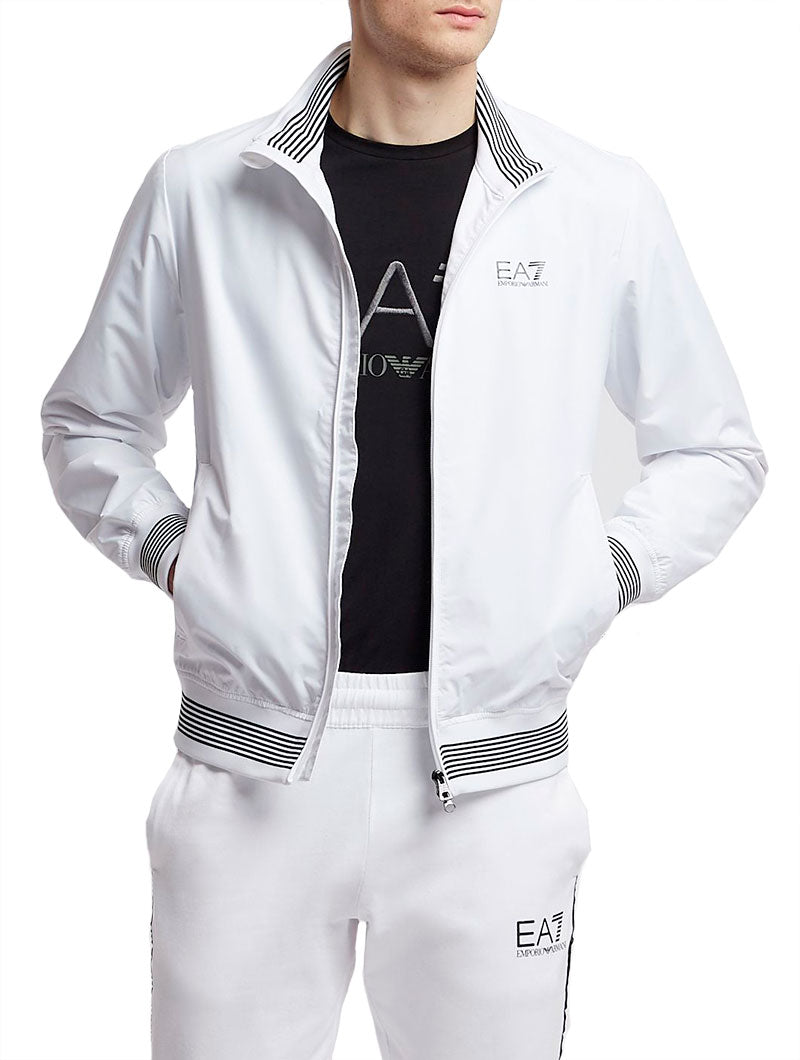 EA7 WATERPROOF JACKET IN WHITE
