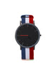 BLACK PURE WATCH CAPTAIN FABRIC STRAP