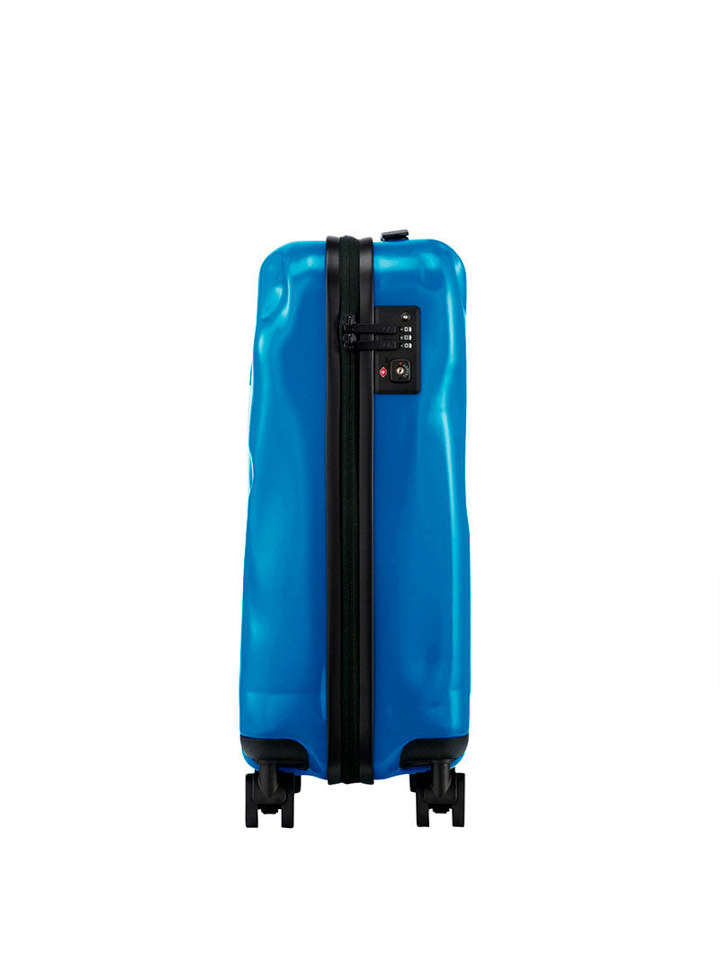 ACCESSORIES | SMALL PAINT BLUE CRASH BAGGAGE | CABIN TROLLEY | HAND LUGGAGE | CRASH BAGGAGE