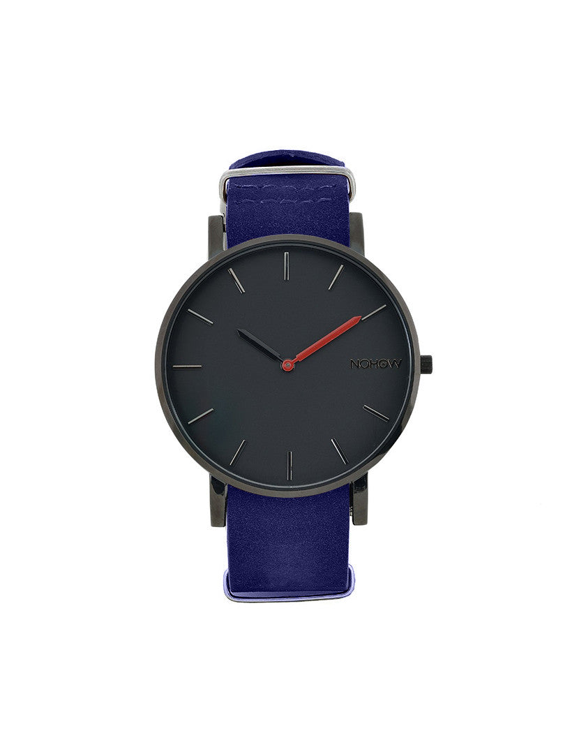 BLACK PURE WATCH NAVY NUBUCK LEATHER