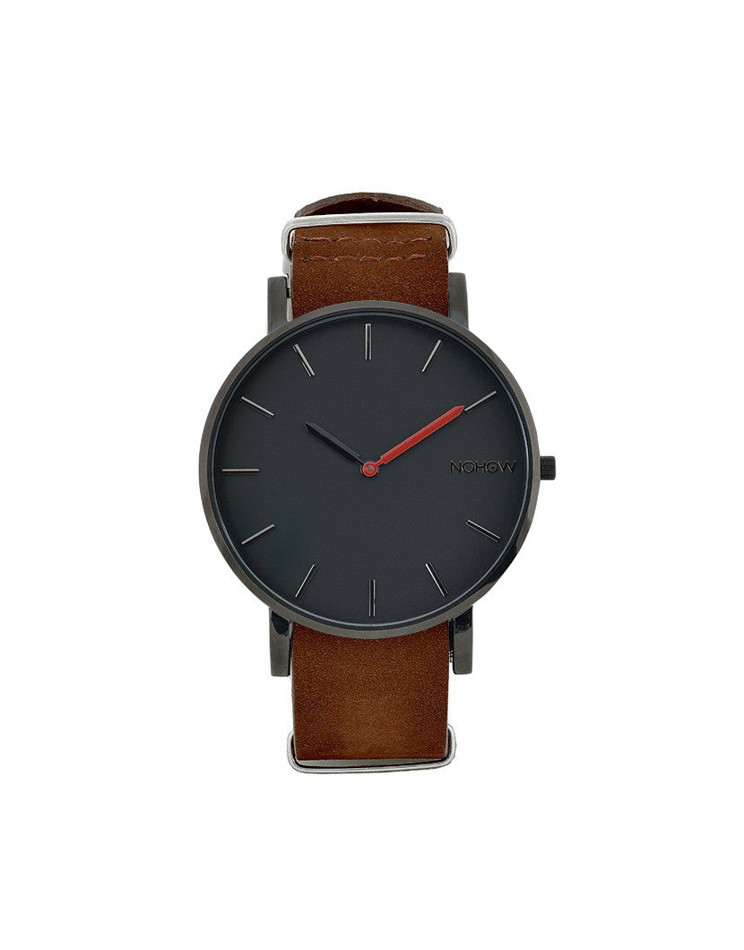 BLACK PURE WATCH BROWN NUBUCK LEATHER