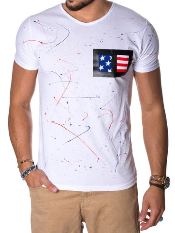 DOUBLE AMERICAN WHITE T-SHIRT