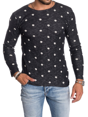 POIS BLACK AND WHITE SWEATSHIRT