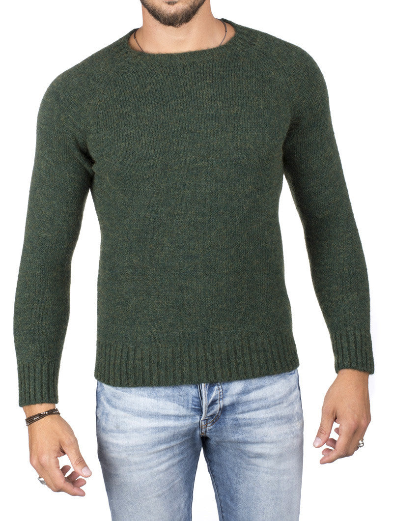 CREW NECK MOHAIR SWEATER