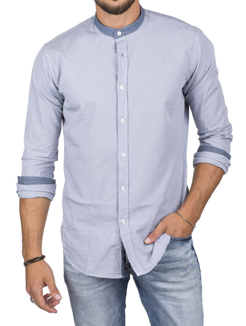 KOREAN COLLAR SHIRT