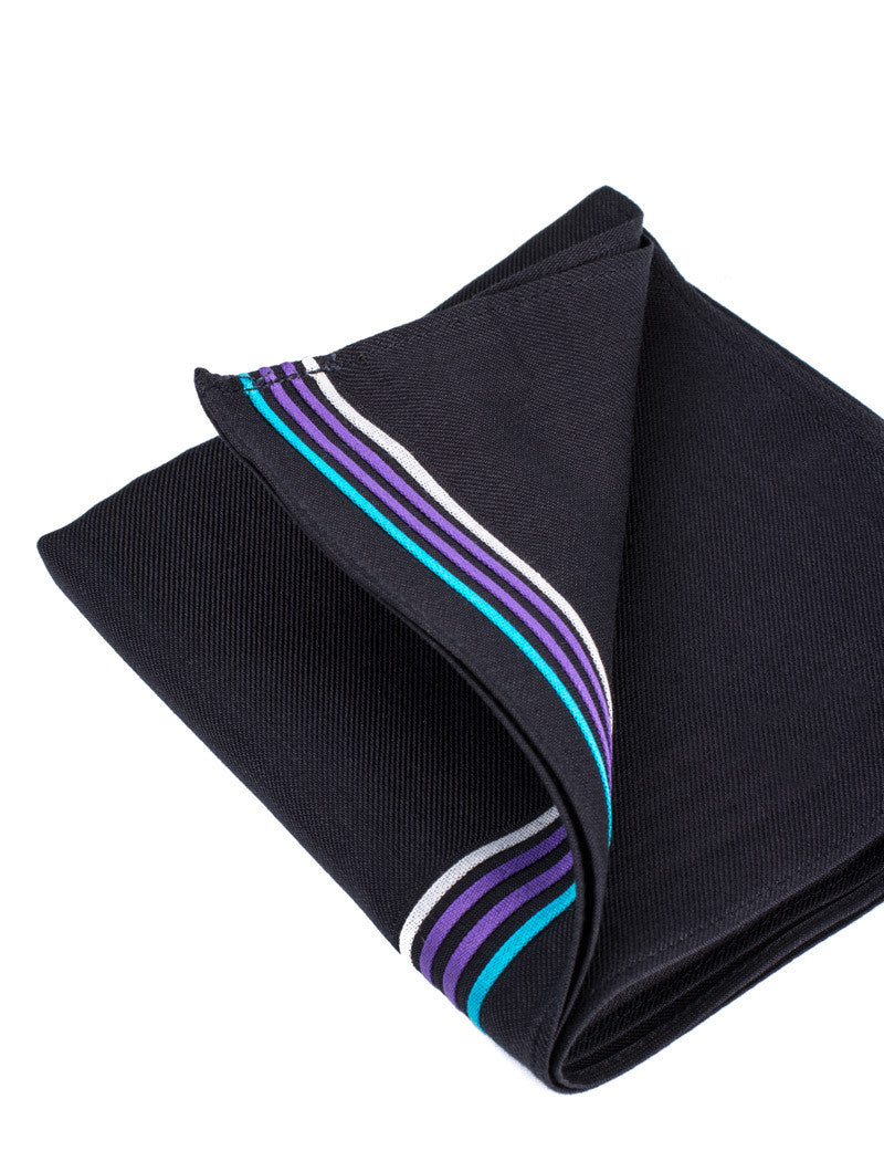 MEN'S POCHETTE | BLACK FENDI POCKET SQUARE | FENDI