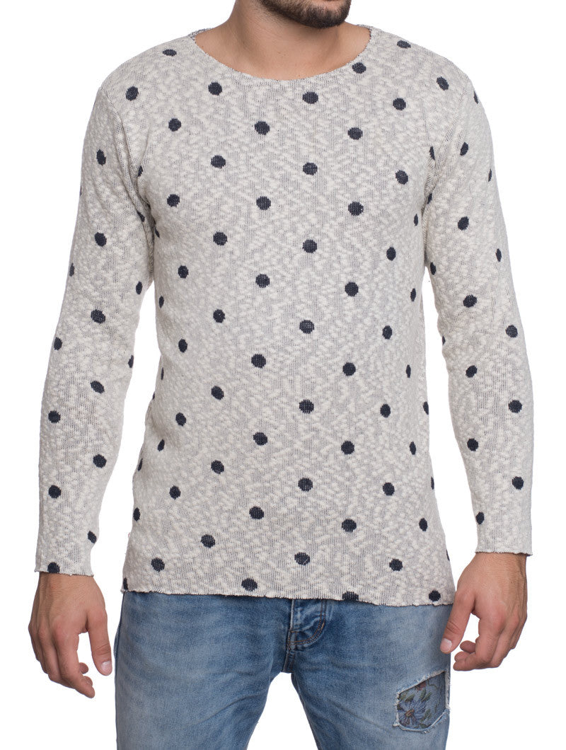 POIS WHITE AND BLUE SWEATSHIRT