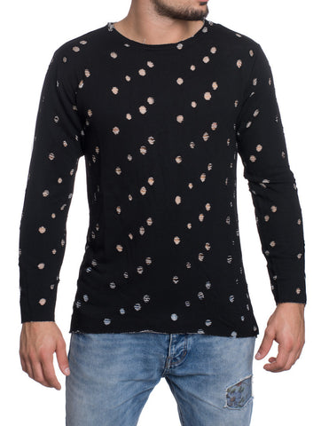 BLACK HOOLED SWEATSHIRT