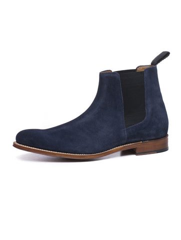 MEN'S SHOES | DECLAN NAVY SUEDE CHELSEA LESI F | NOHOW STYLE