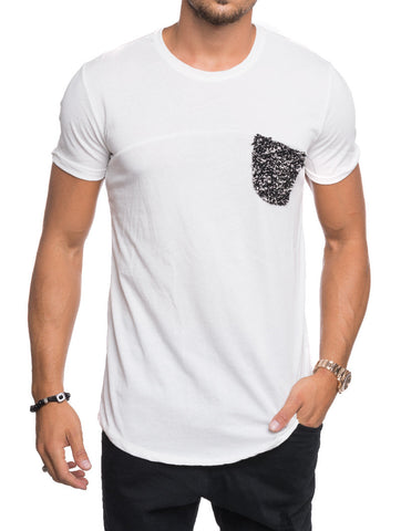 POCKET BOUCLE T-SHIRT