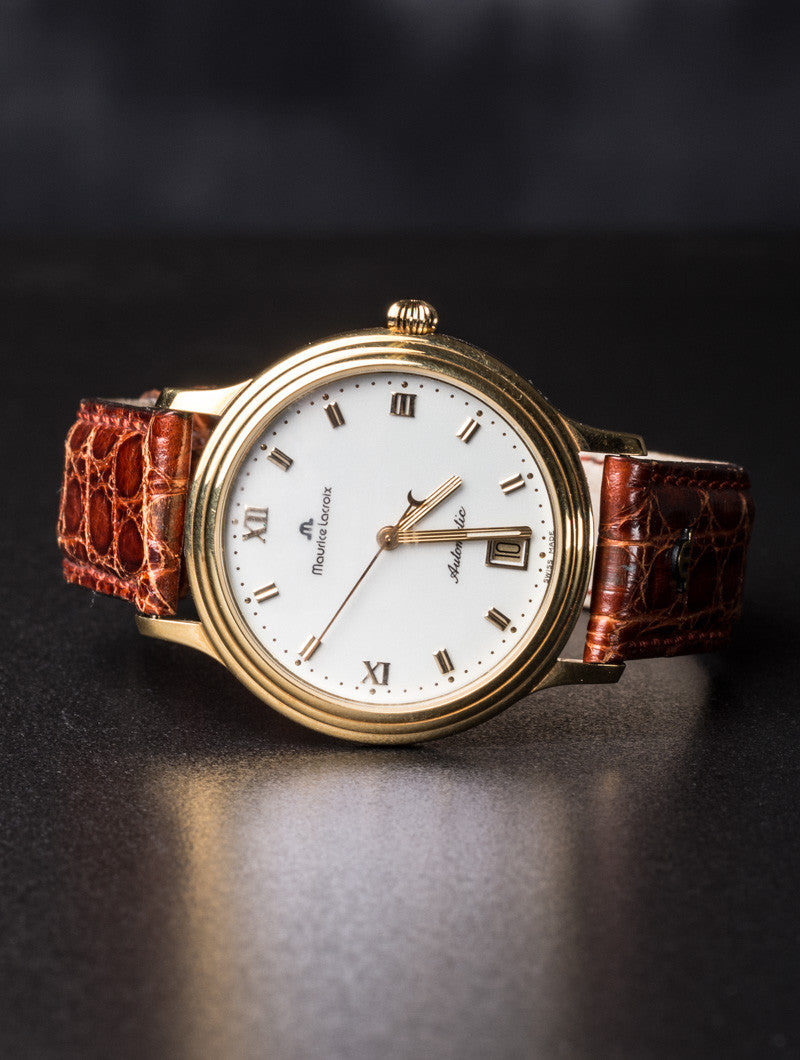 EXCLUSIVE VINTAGE WATCH | MAURICE LACROIX 18K GOLD | NOHOW STYLE