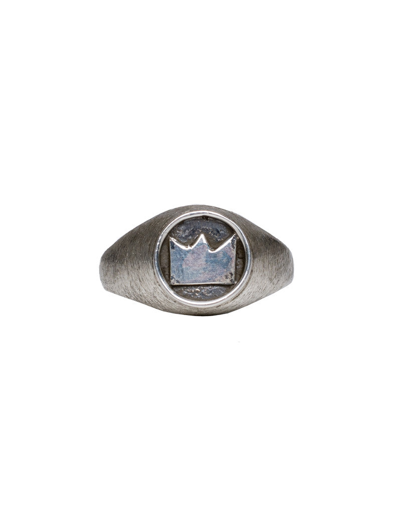 INDIGO CROWN SILVER RING NOHOW