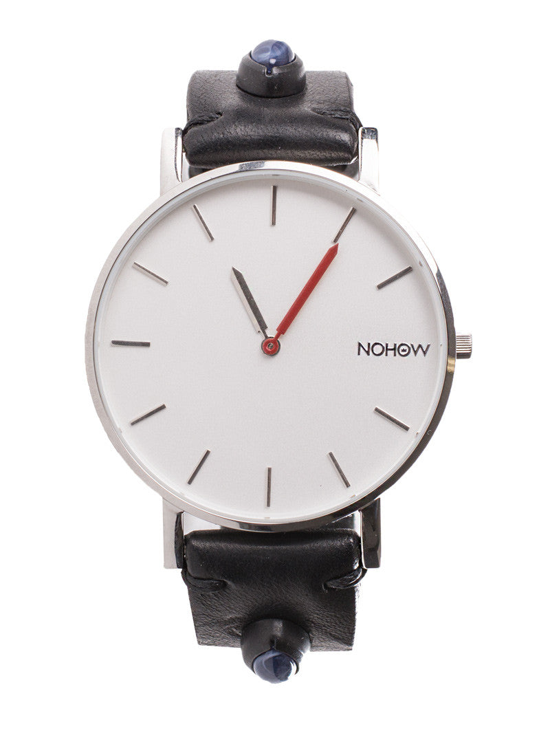 WATCHES STRAPS | BLACK LEATHER | NOHOW WATCHES | ACCESSORIES