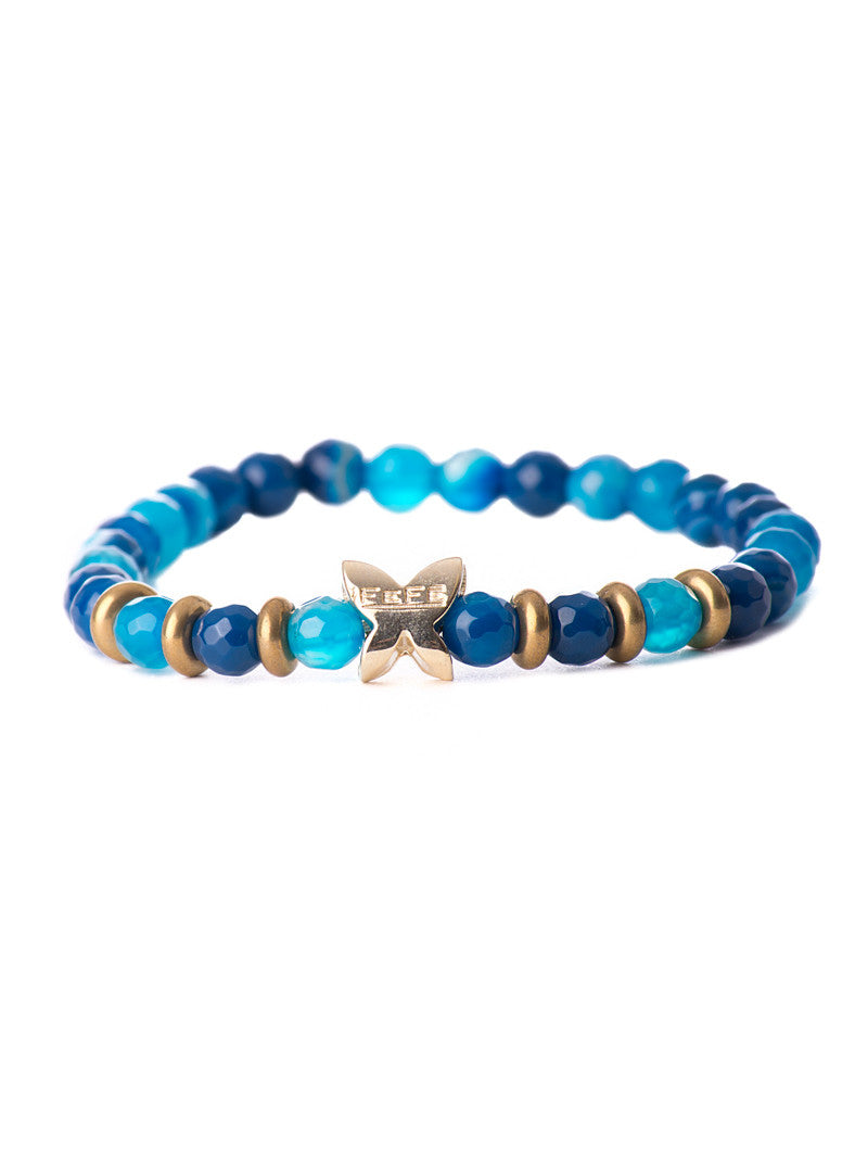 MEN'S BRACELET STONE BLUE PEPITA | ACCESSORIES | FEFE GLAMOUR