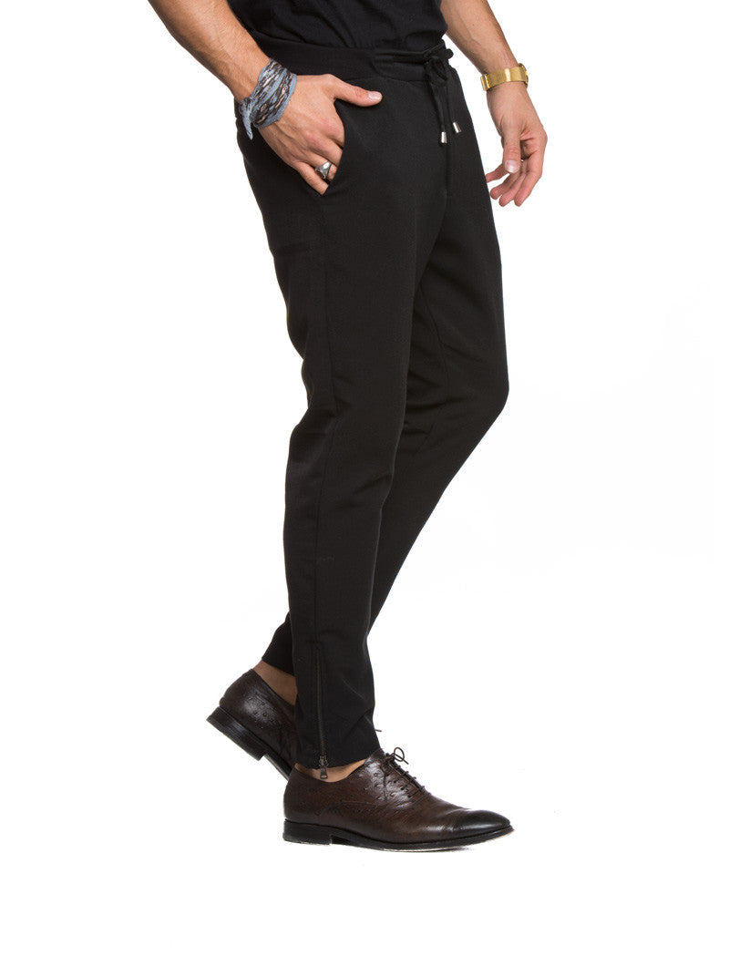 MEN'S TROUSERS | 5422 ZIP  BLACK | NOHOW STYLE | MARIANO DI VAIO