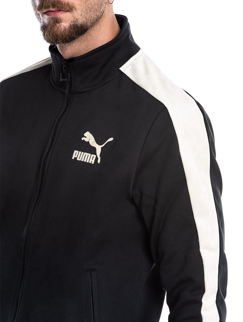... T7 INSERTS SUEDE PUMA JACKET IN BLACK ...