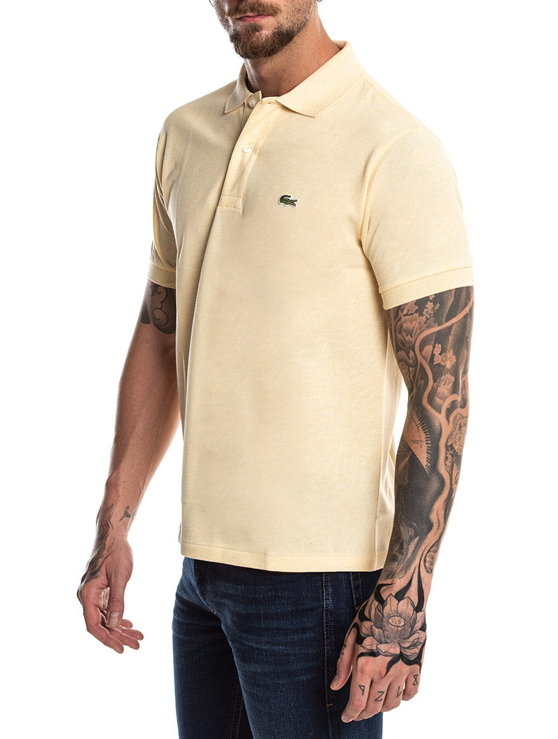 LACOSTE SHORT SLEEVED POLO IN YELLOW