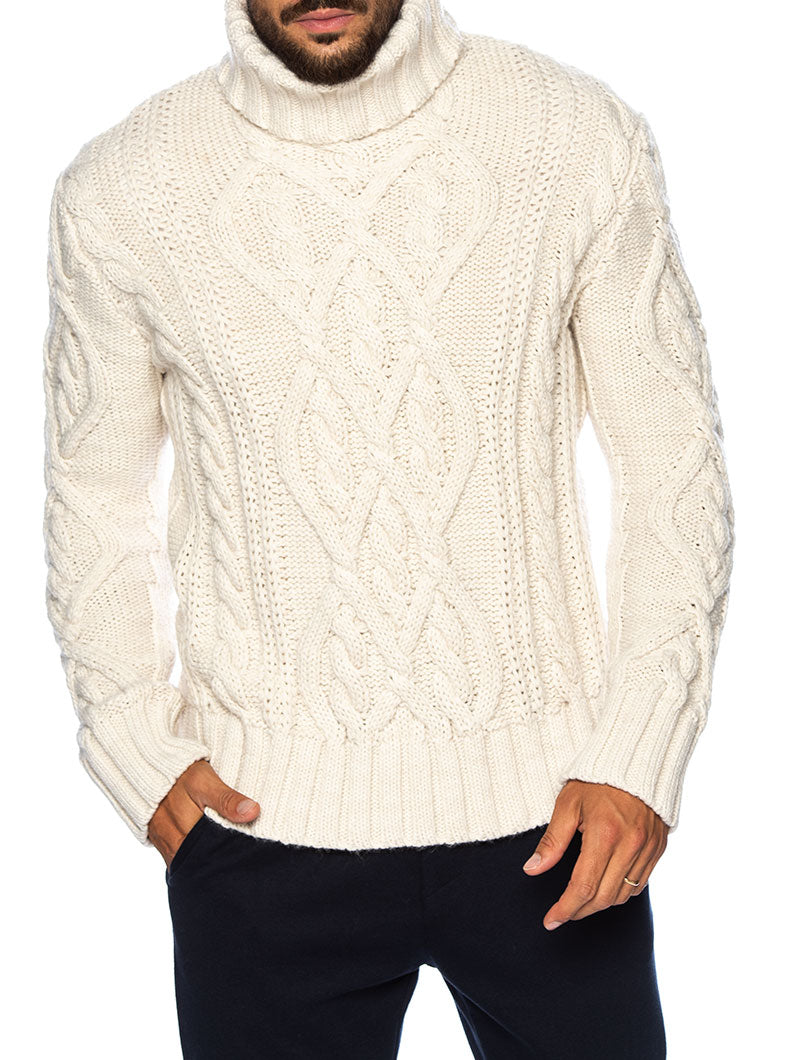STAN ROLLNECK SWEATER IN CREAM