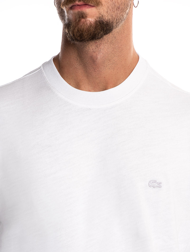 LACOSTE MAN SWEATSHIRT IN WHITE