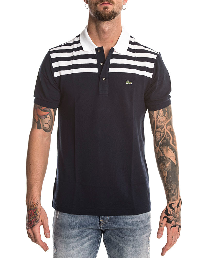 c414011c LACOSTE SHORT SLEEVED POLO IN BLUE NAVY
