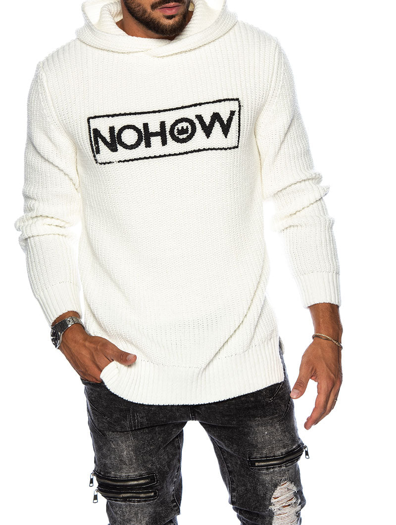 JARED LOGO SWEATER IN WHITE