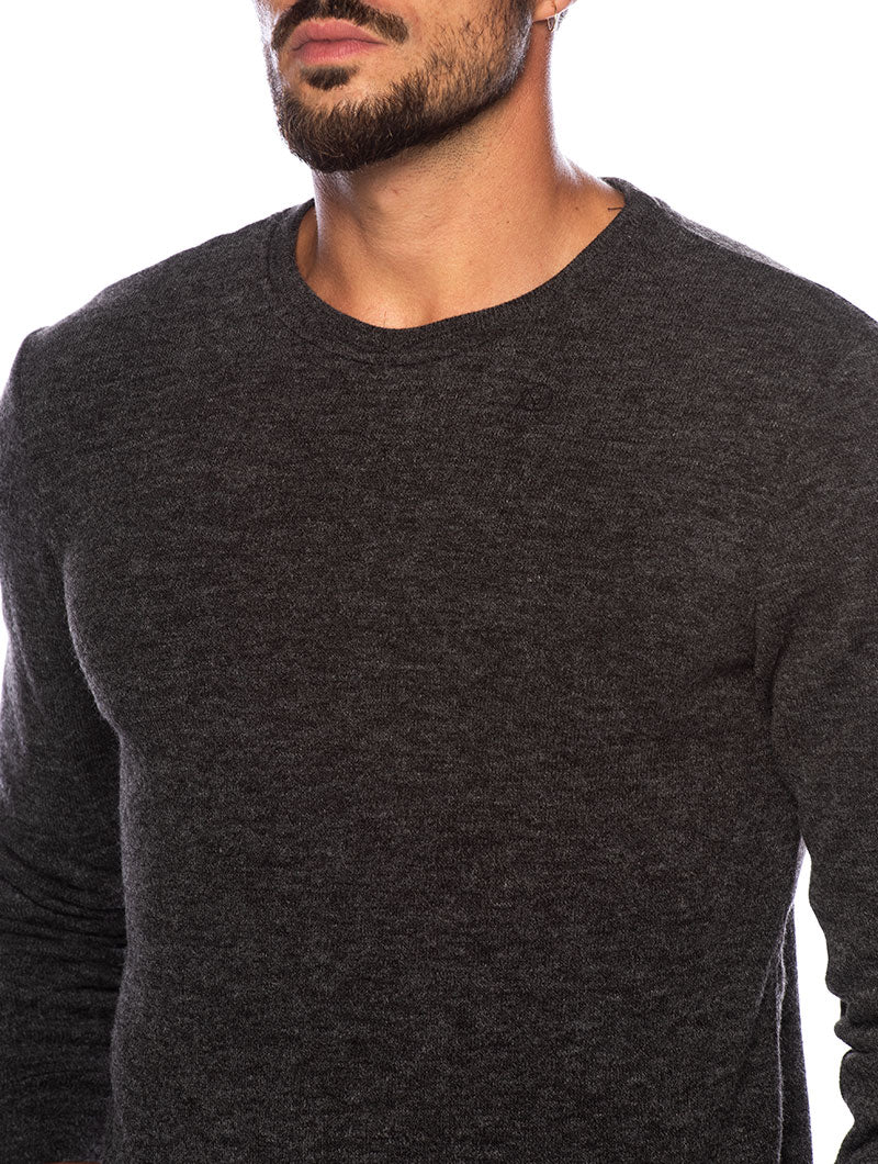 CHAD LONG SLEEVE T-SHIRT IN ANTHRACITE