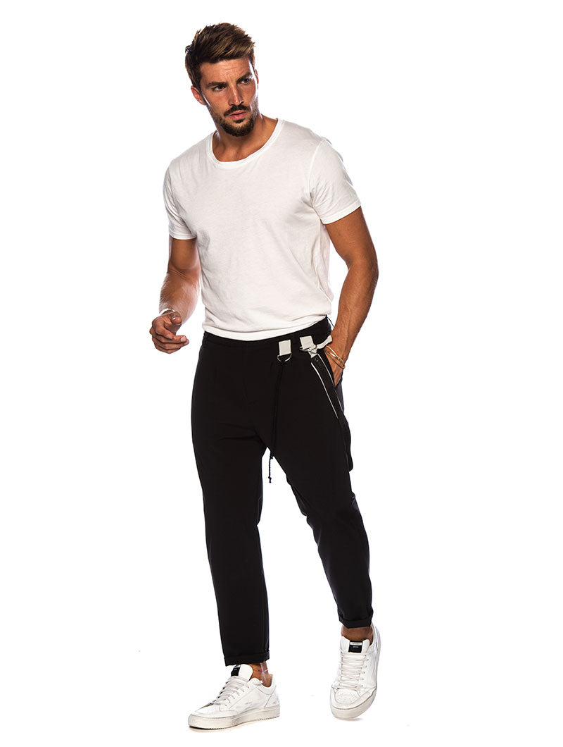 KEIZO CASUAL PANTS IN BLACK