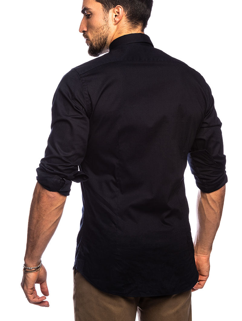 QUIN FORMAL SHIRT IN DARK BLUE