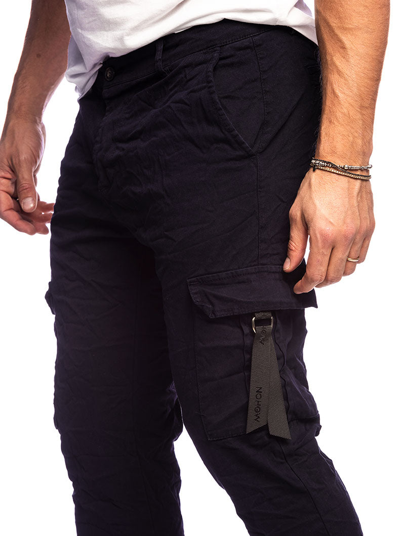 NILES CARGO PANTS IN BLUE